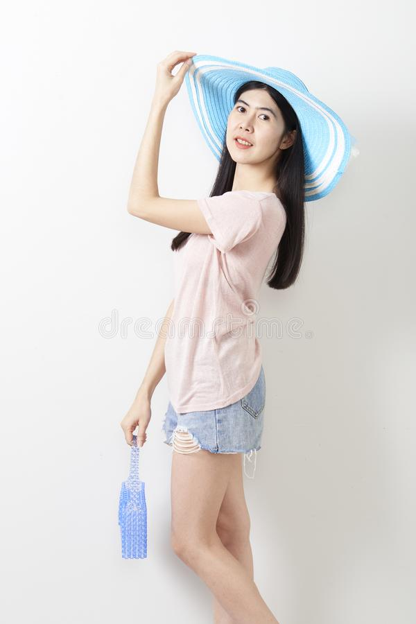 Stående av den asiatiska unga härliga flickan arkivfoto