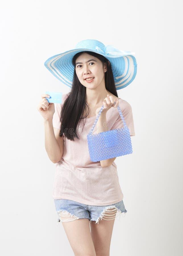 Stående av den asiatiska unga härliga flickan royaltyfria foton