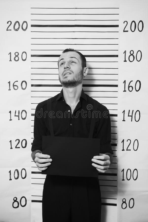 Stående av den brottsliga mannen fotografering för bildbyråer