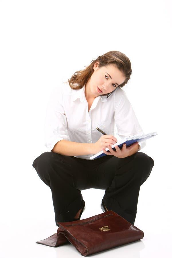 Stående av den härliga affärskvinnan arkivfoto