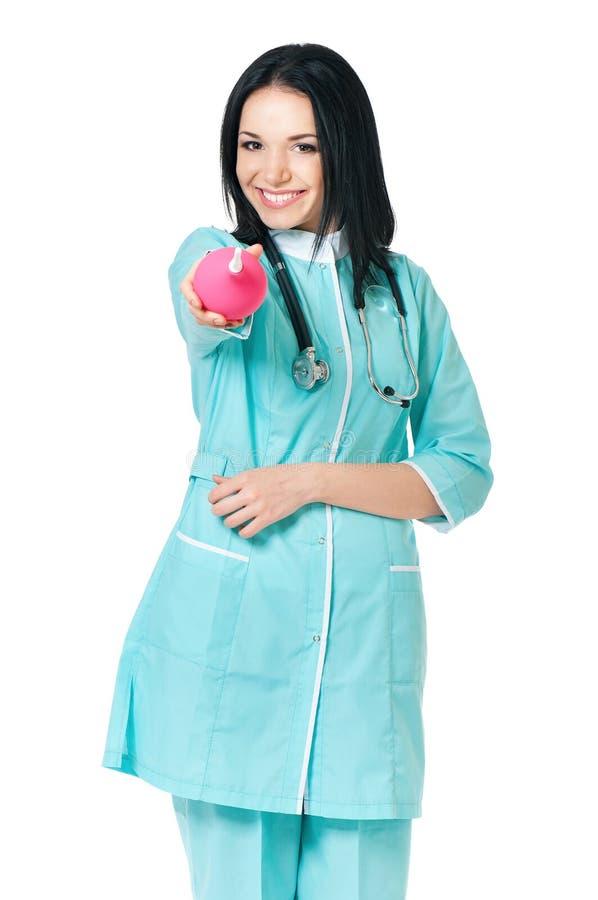 Stående av den kvinnliga doktorn arkivbild