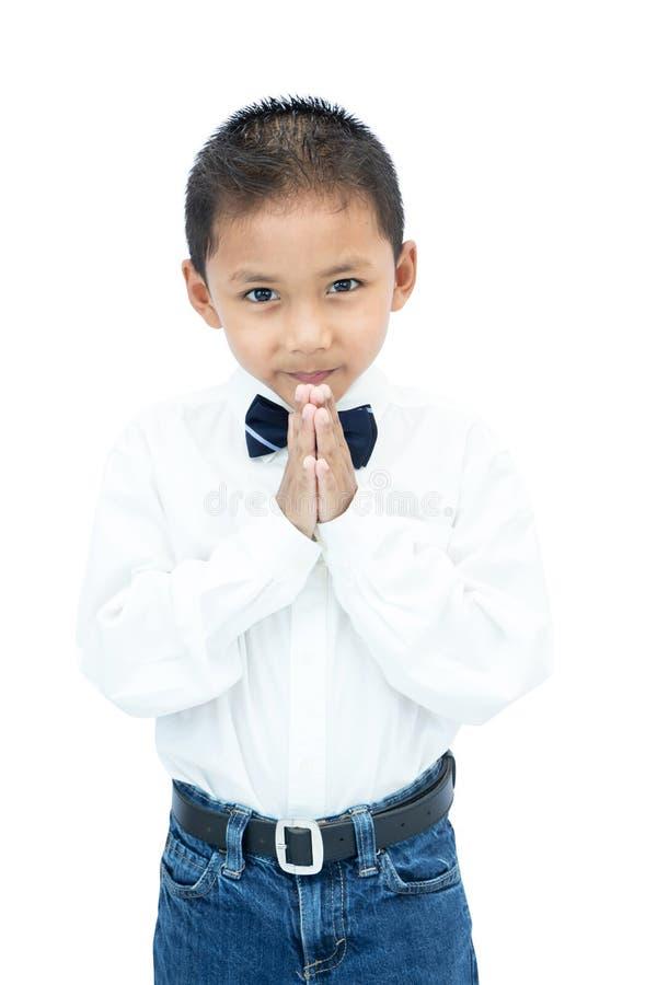 Stående av den lilla asiatiska pojken arkivfoton