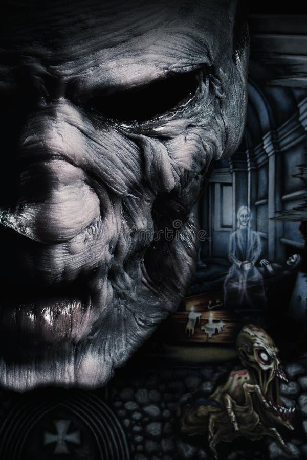 Stående av den mörka deadmanen royaltyfri illustrationer