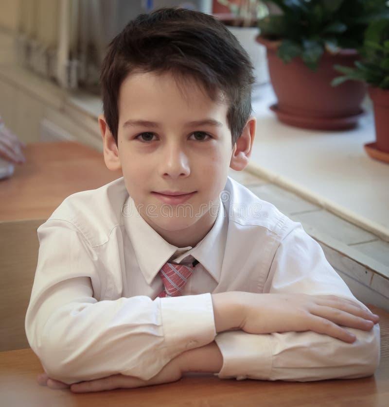 Stående av den manliga grundskola för barn mellan 5 och 11 åreleven royaltyfria foton
