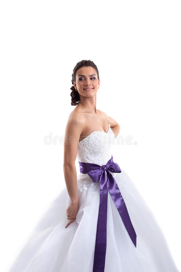 Stående av den unga härliga bruden, närbild arkivbilder