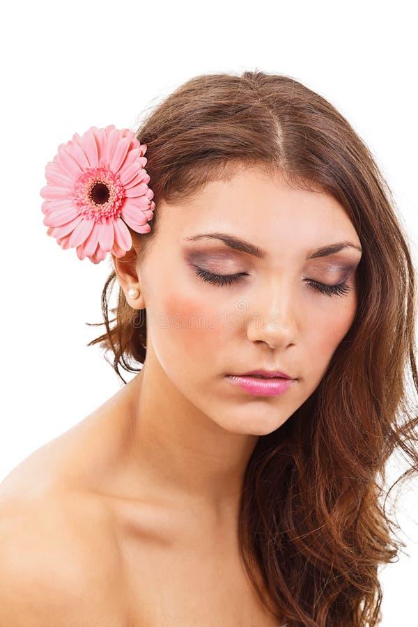 Download Stående Av Den Unga Kvinnan Fotografering för Bildbyråer - Bild av gulligt, studio: 27284483