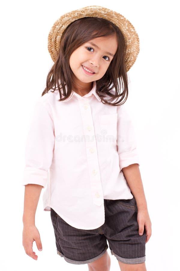 Stående av den unga liten flicka royaltyfri foto