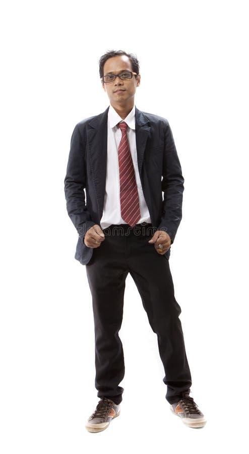 Stående av det asiatiska anseendet för ung man royaltyfri bild