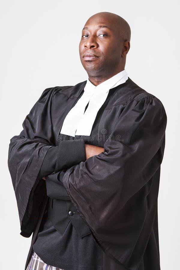 Stående av en allvarlig advokat royaltyfria bilder