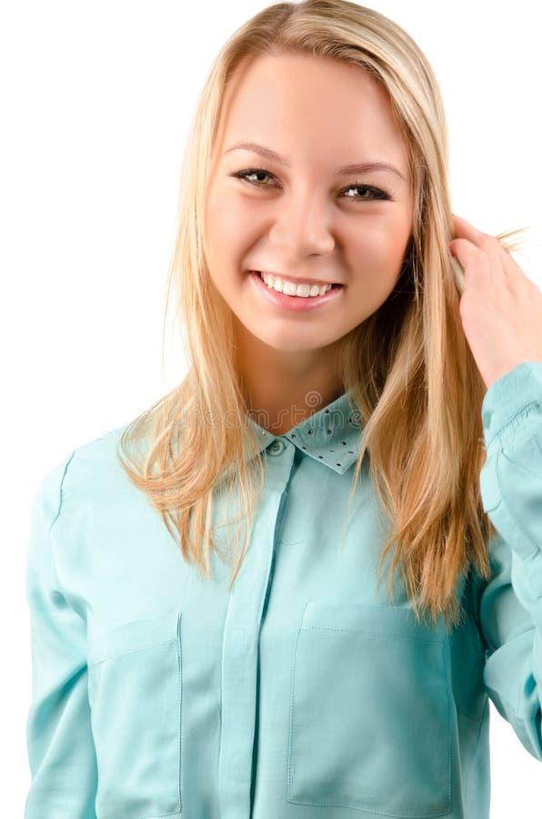Stående av en attraktiv blondin fotografering för bildbyråer