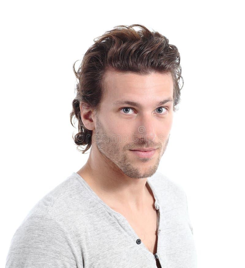 Stående av en attraktiv man som ser kameran fotografering för bildbyråer