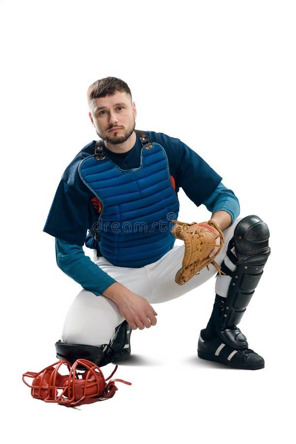 Stående av en baseballstoppare arkivfoto