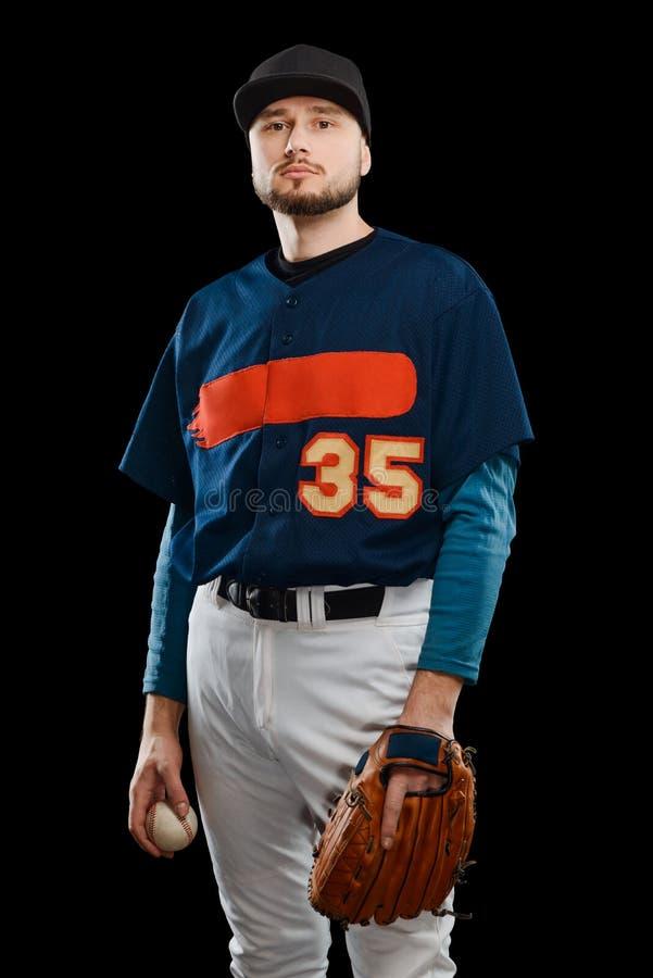 Stående av en basebollspelare arkivfoto