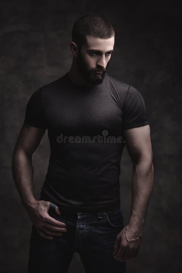 Stående av en beardy man fotografering för bildbyråer
