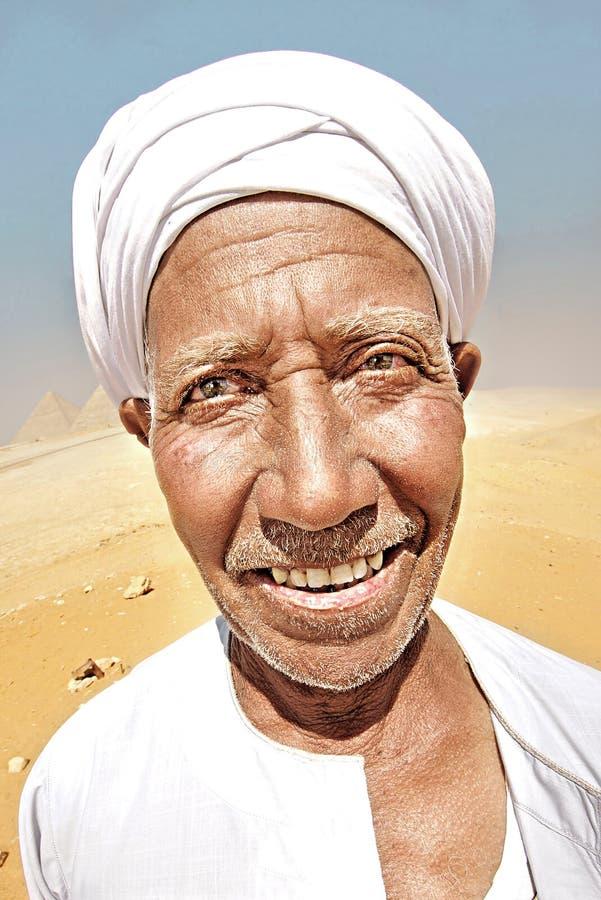Stående av en beduin arkivbild
