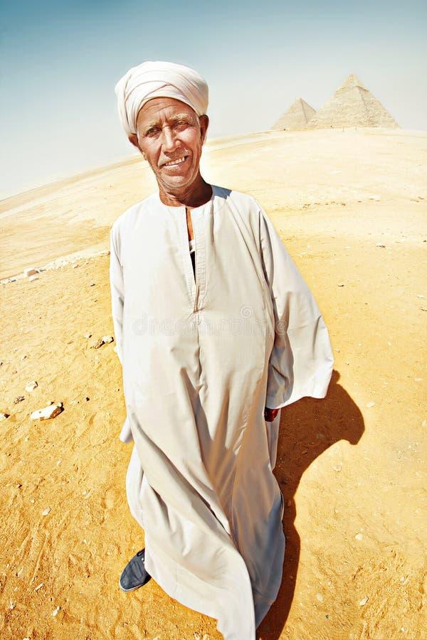 Stående av en beduin arkivbilder