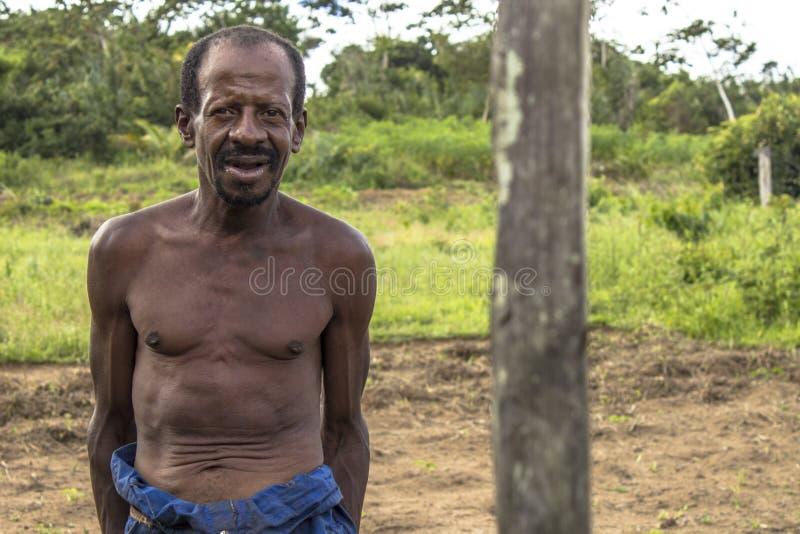stående av en bonde i backlandsna av Bahia royaltyfri bild
