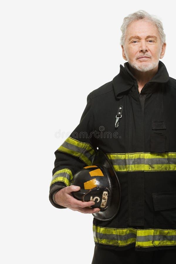 Stående av en brandman fotografering för bildbyråer