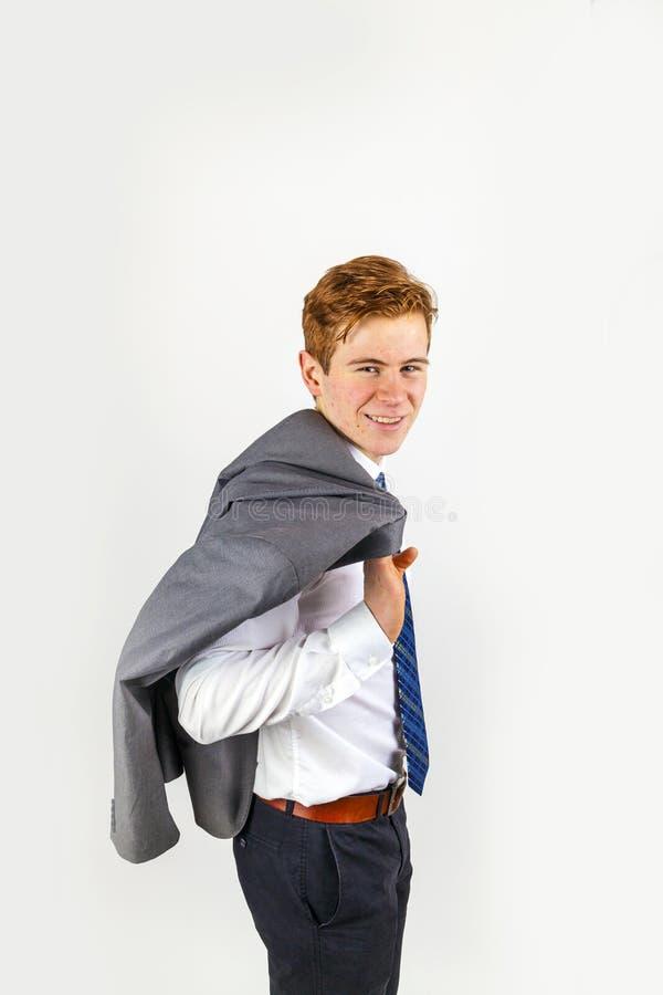 Stående av en dapper tonårig pojke royaltyfri foto