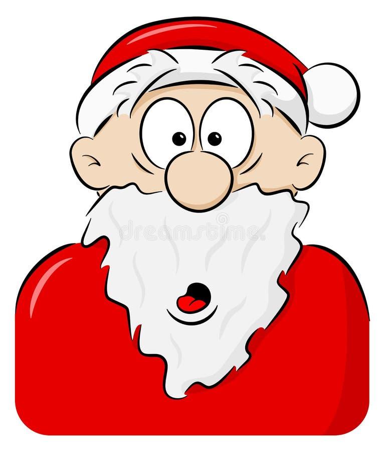 Stående av en förvånade Santa Claus stock illustrationer