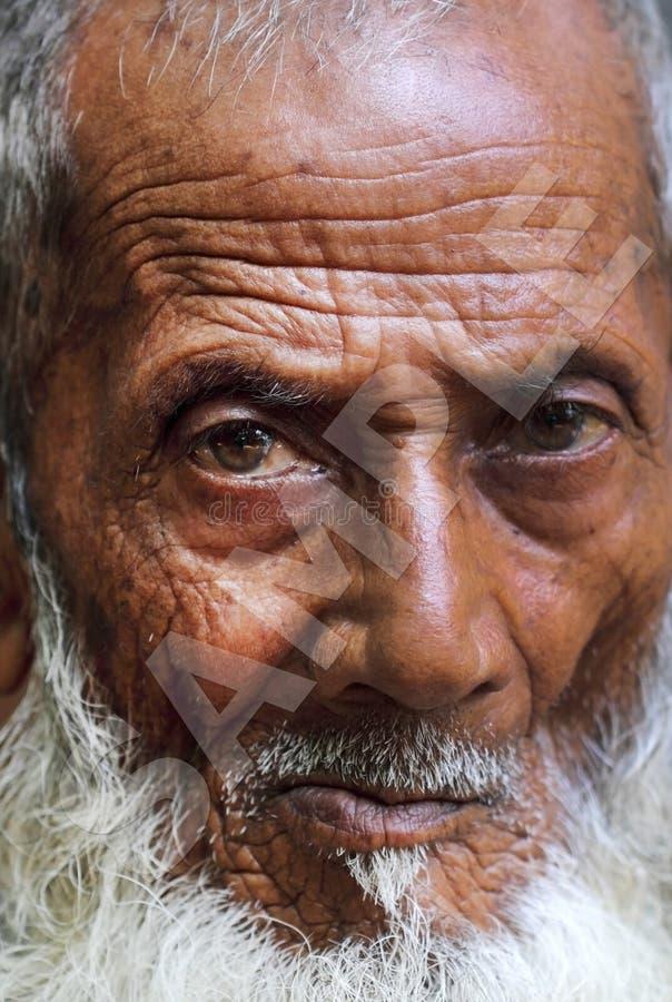 Stående av en gamal man fotografering för bildbyråer