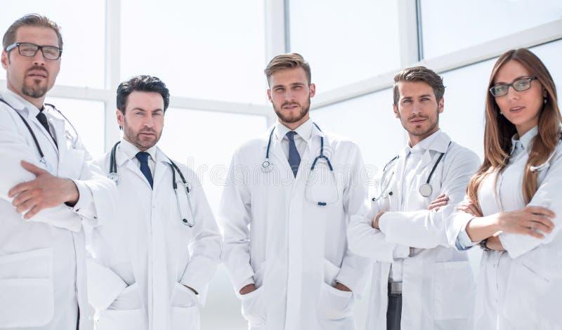 Stående av en grupp av doktorer av vårdcentralen royaltyfria foton