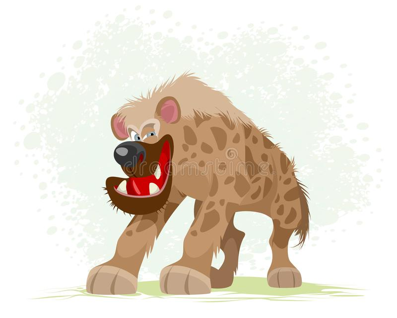 Stående av en hyena vektor illustrationer