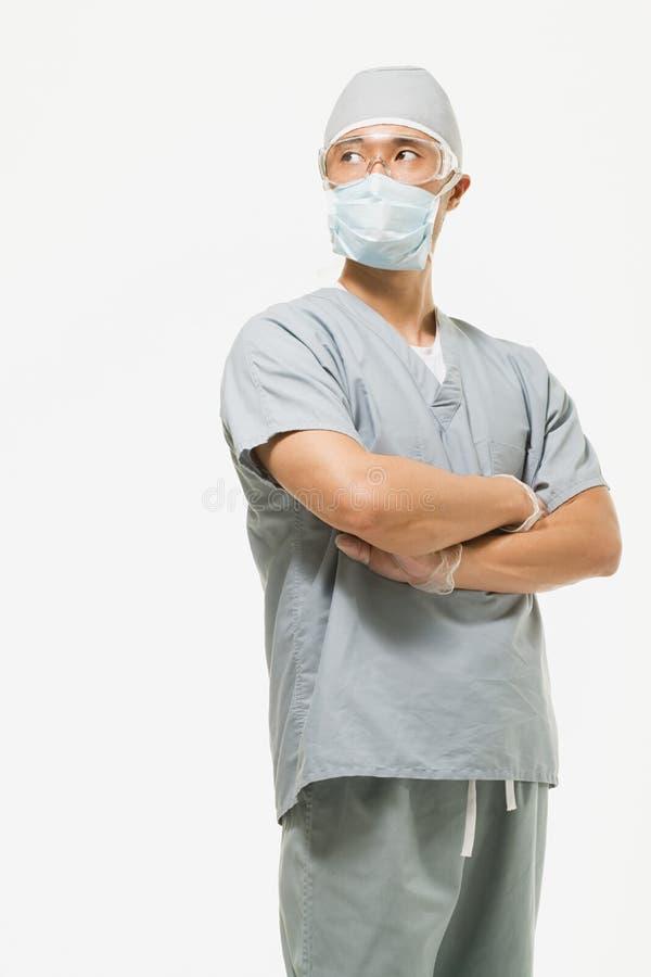 Stående av en kirurg royaltyfria foton