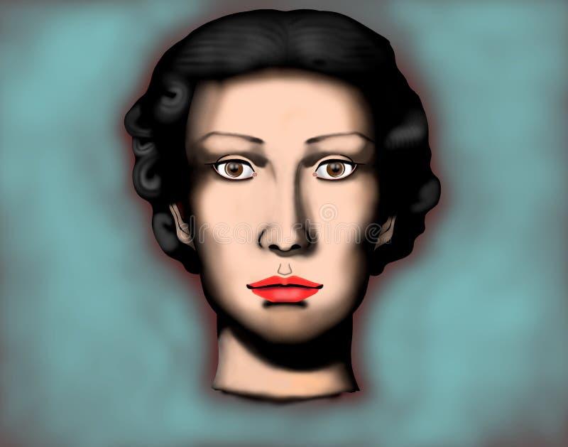 Stående av en kvinna arkivbild
