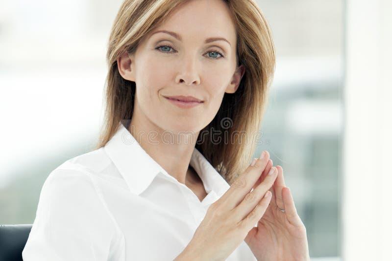 Stående av en kvinna för ledare för företags affär royaltyfri bild