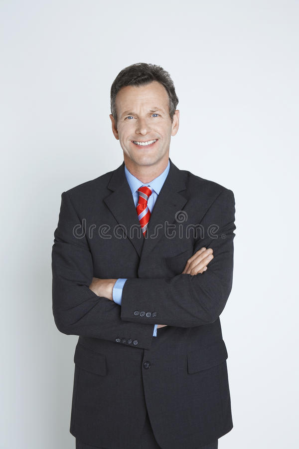 Stående av en lycklig manlig entreprenör royaltyfria bilder