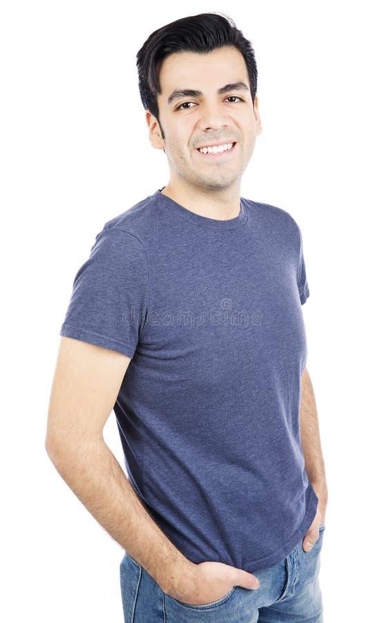 Stående av en lycklig ung man fotografering för bildbyråer