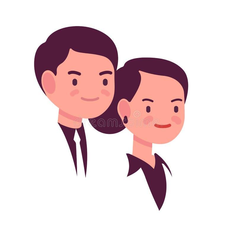 Stående av en man och en kvinna vektor illustrationer