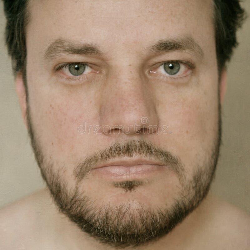Stående av en mitt- vuxen man med skägget arkivbild