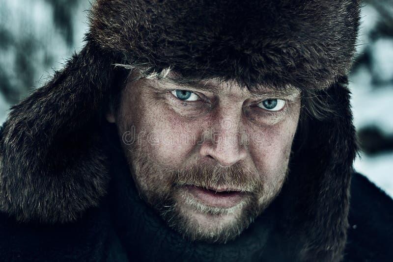 Stående av en rysk bonde royaltyfria bilder