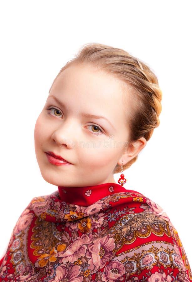 Stående av en rysk flicka royaltyfri fotografi