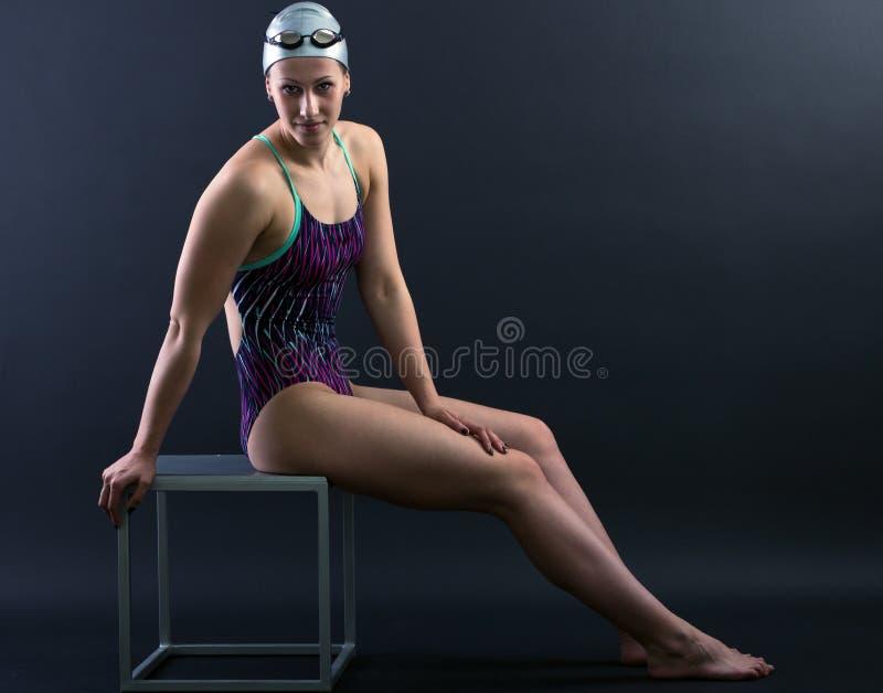 Stående av en simmare fotografering för bildbyråer