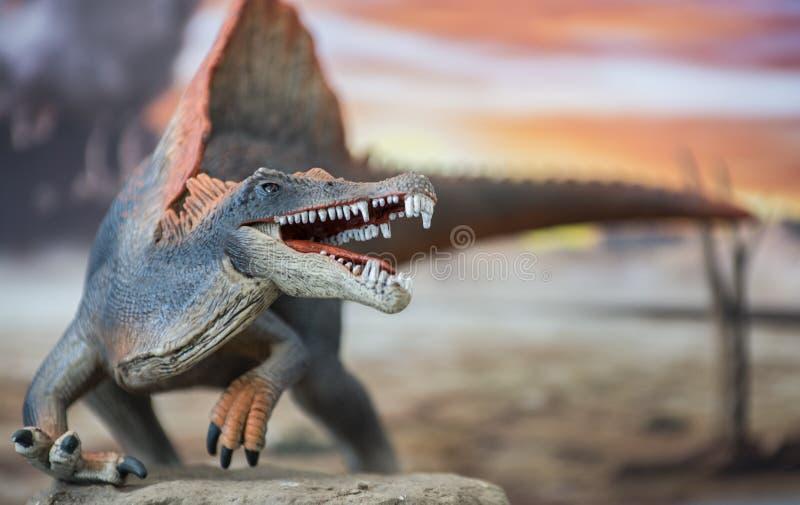 Stående av en spinosaurus fotografering för bildbyråer