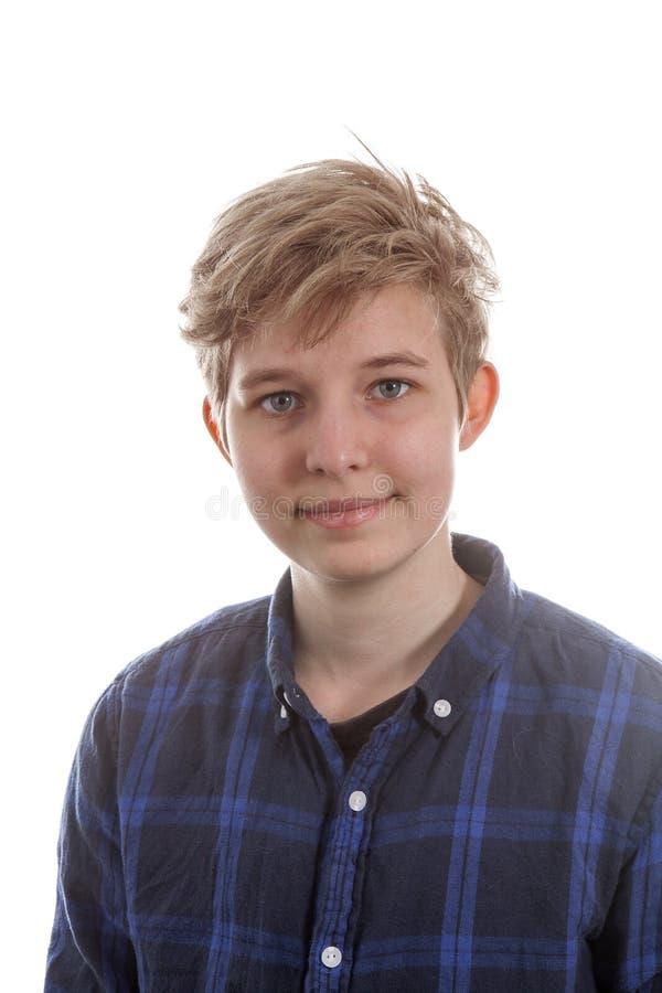 Stående av en tonårs- transgenderpojke royaltyfri fotografi