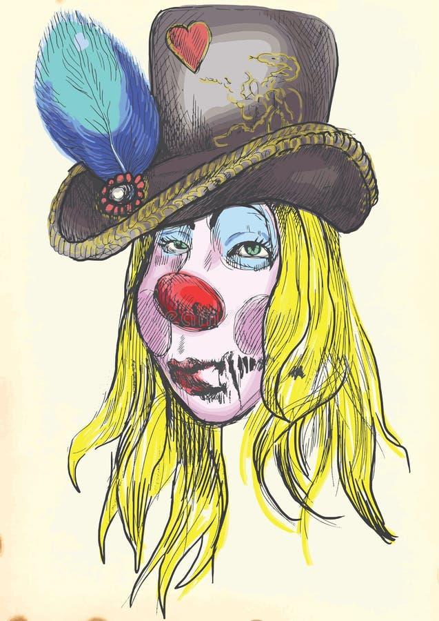 Stående av en undead 7 stock illustrationer