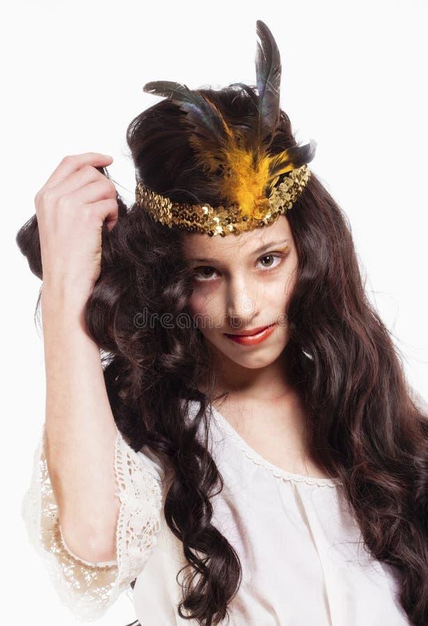 Stående av en ung flicka royaltyfria foton