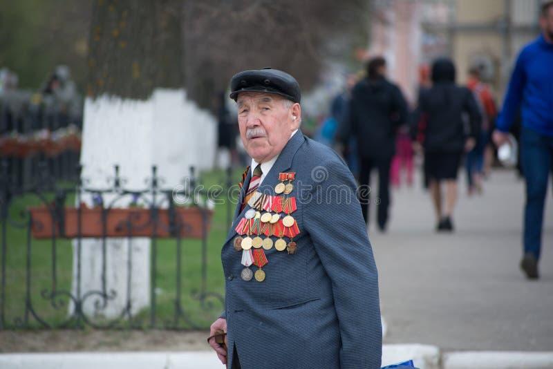 Stående av en veteran av världskrig II arkivfoto