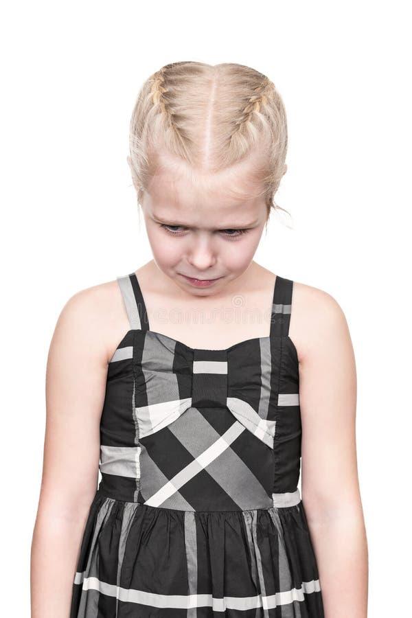 Stående av ett frustrerat barn arkivfoto