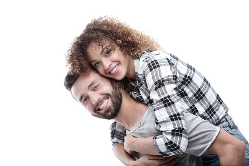 Stående av ett gladlynt och lyckligt gift par arkivfoto