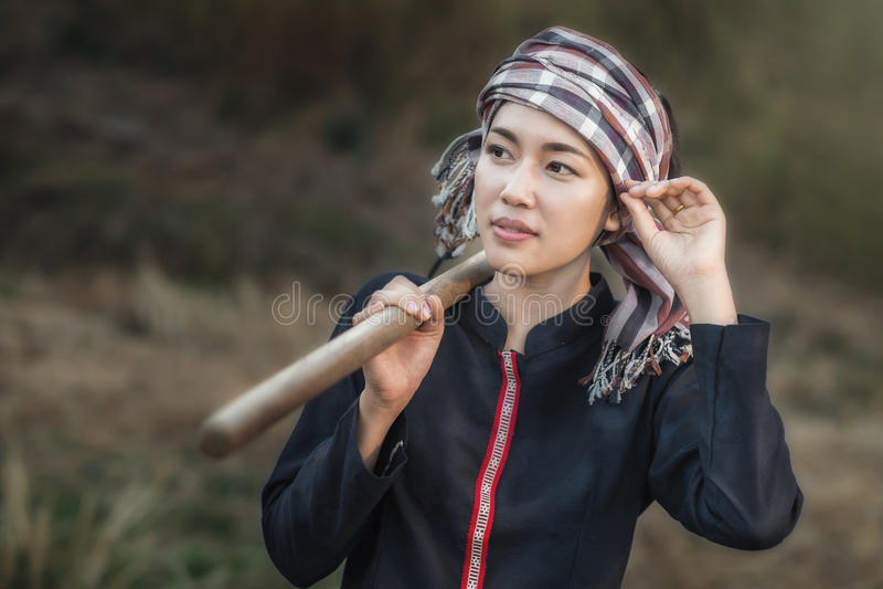 Stående av flickan för asiatiskt land arkivfoto