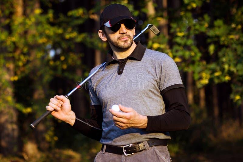 Stående av golfaren royaltyfria foton