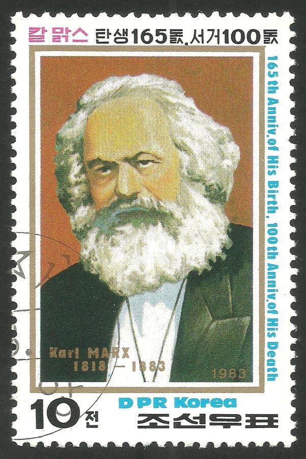 Stående av Karl Marx royaltyfria bilder