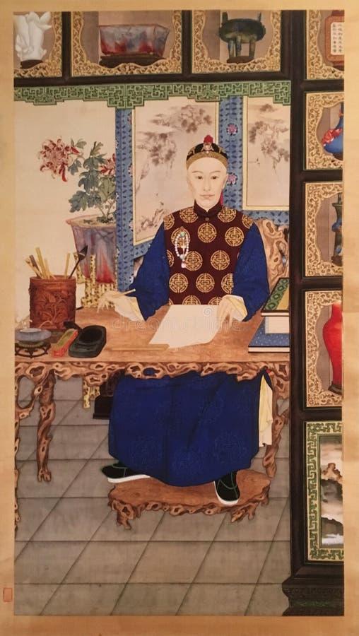 Stående av kejsaren Guangxu av Qing Dynasty, Kina fotografering för bildbyråer