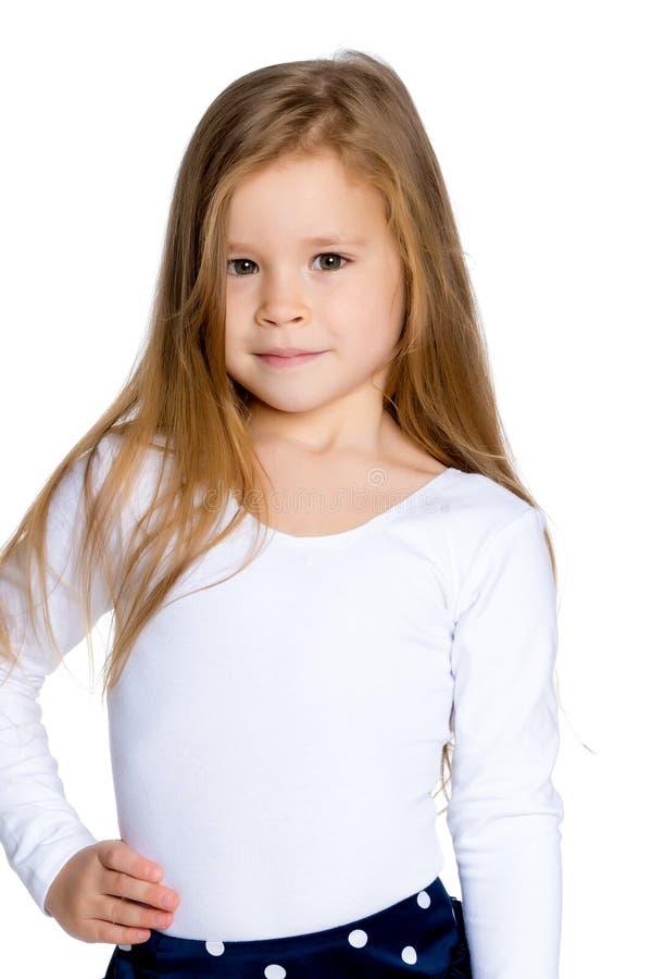 Stående av lite flickanärbilden arkivbild