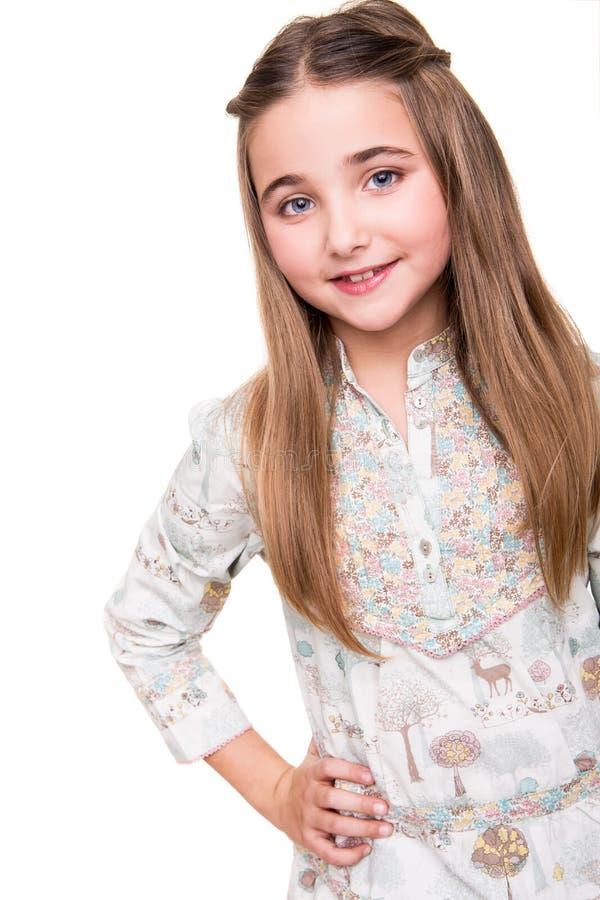 Stående av lite flickan royaltyfri bild